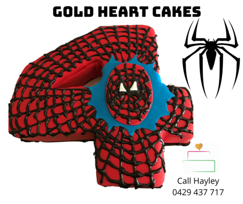 Children Fun Gold Heart Cakes