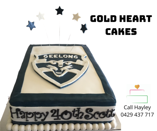 Special Events Gold Heart Cakes