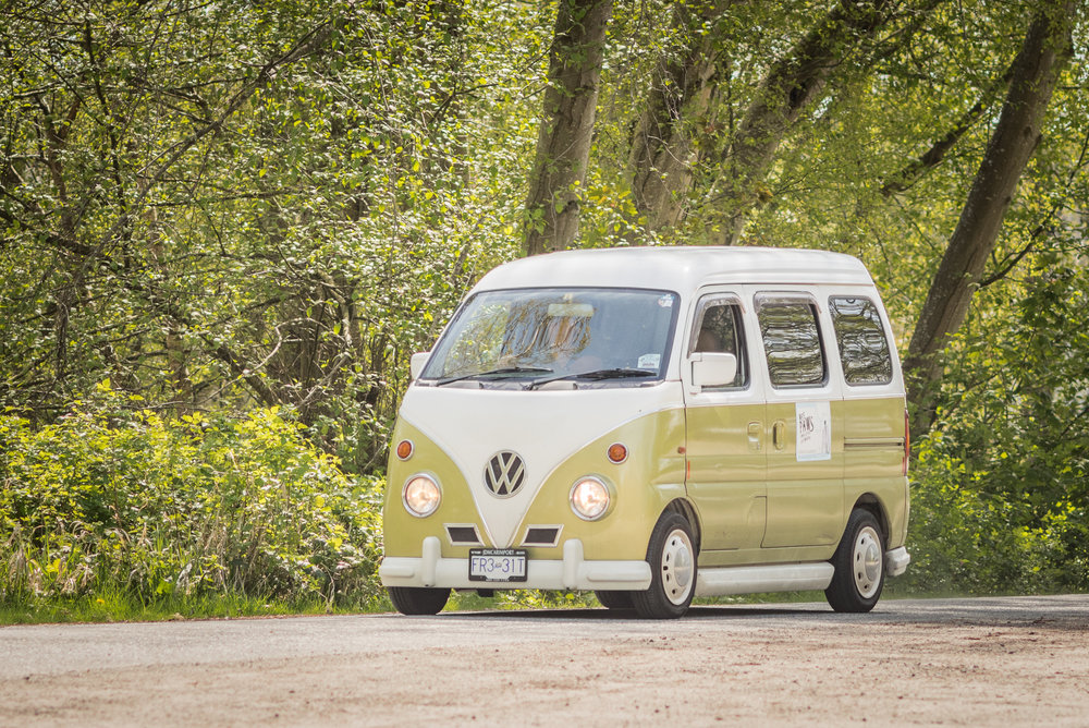 The coolest van ever - the iconic Wee Paws van!