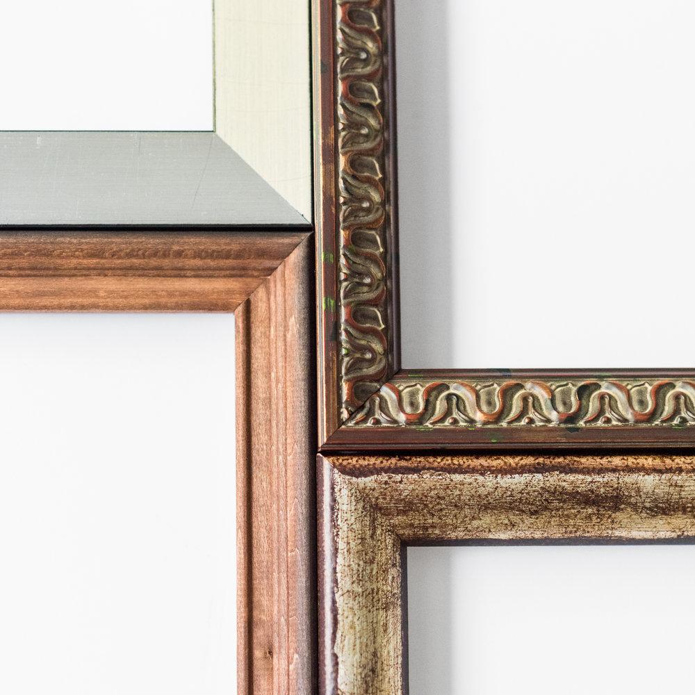 Selection of custom frames in stock