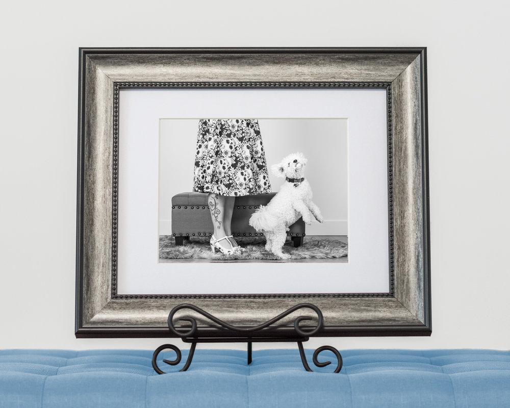 Custom framed matted fine art print