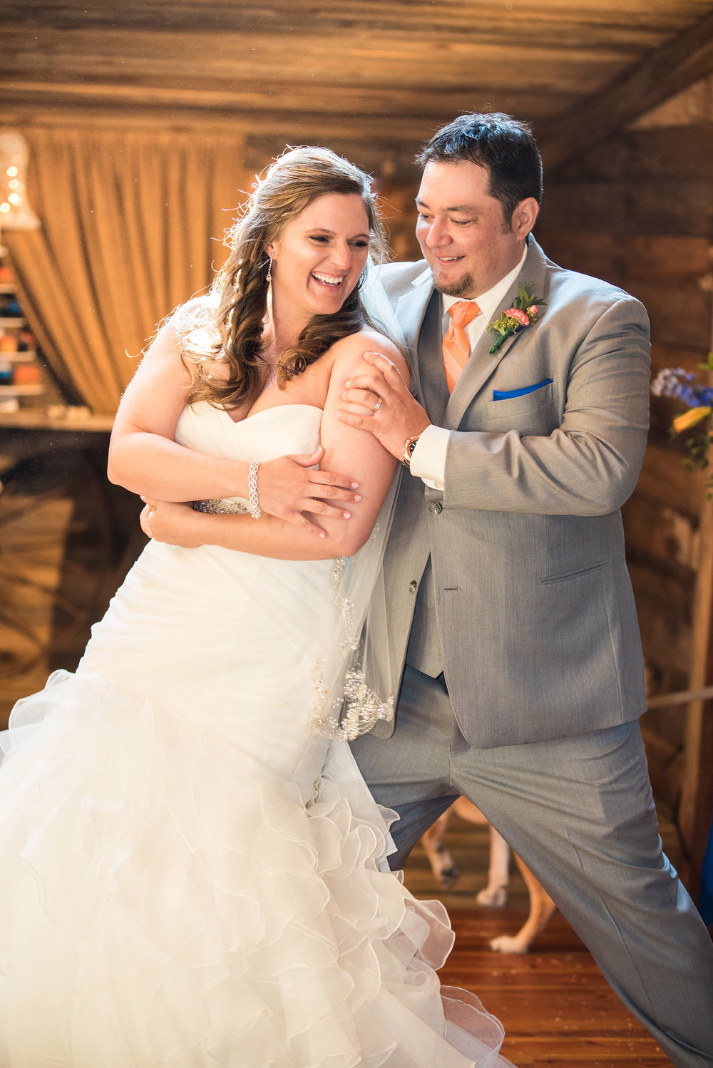 Holly + Chris - Oh where do I even start? I found Sarah on Thumbtack and gave her a call. I immediately knew she was not only a good person but also knew what she was talking about when it came to photography. She came out and did our wedding and the pictures made me cry looking through them! She and her team caught all the funny and special expressions throughout the day and she was such a fun person to work with! I'm so thankful I went with her and had the opportunity to meet such an amazing person. If you need a photographer, you don't need to look any further! She kept things flowing and kept us on schedule (not to mention helped us figure out exactly what we were doing half the day). Thank you, Sarah!!! You are the best and I truly can't wait to get to use you again for any pictures we need in the future!