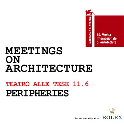 2016.06.11    Meetings on Architecture    Conversatorio_Debate  La Biennale di Venezia  Venecia, Italia