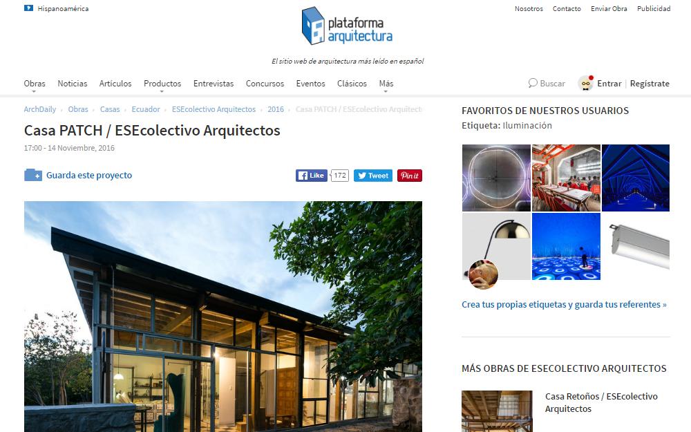 Casa Patch, Plataforma Arquitectura