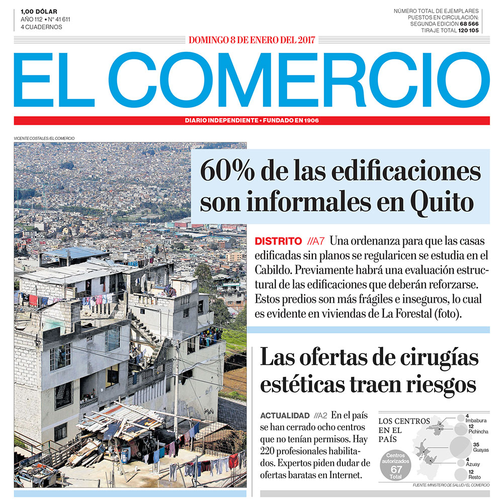 @EL Comercio, 60% of the constrution in Quito is informal