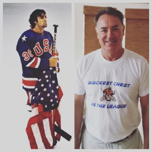 - Miracle On Ice legend Jim Craig sporting our Quickest Chest in the League tee!