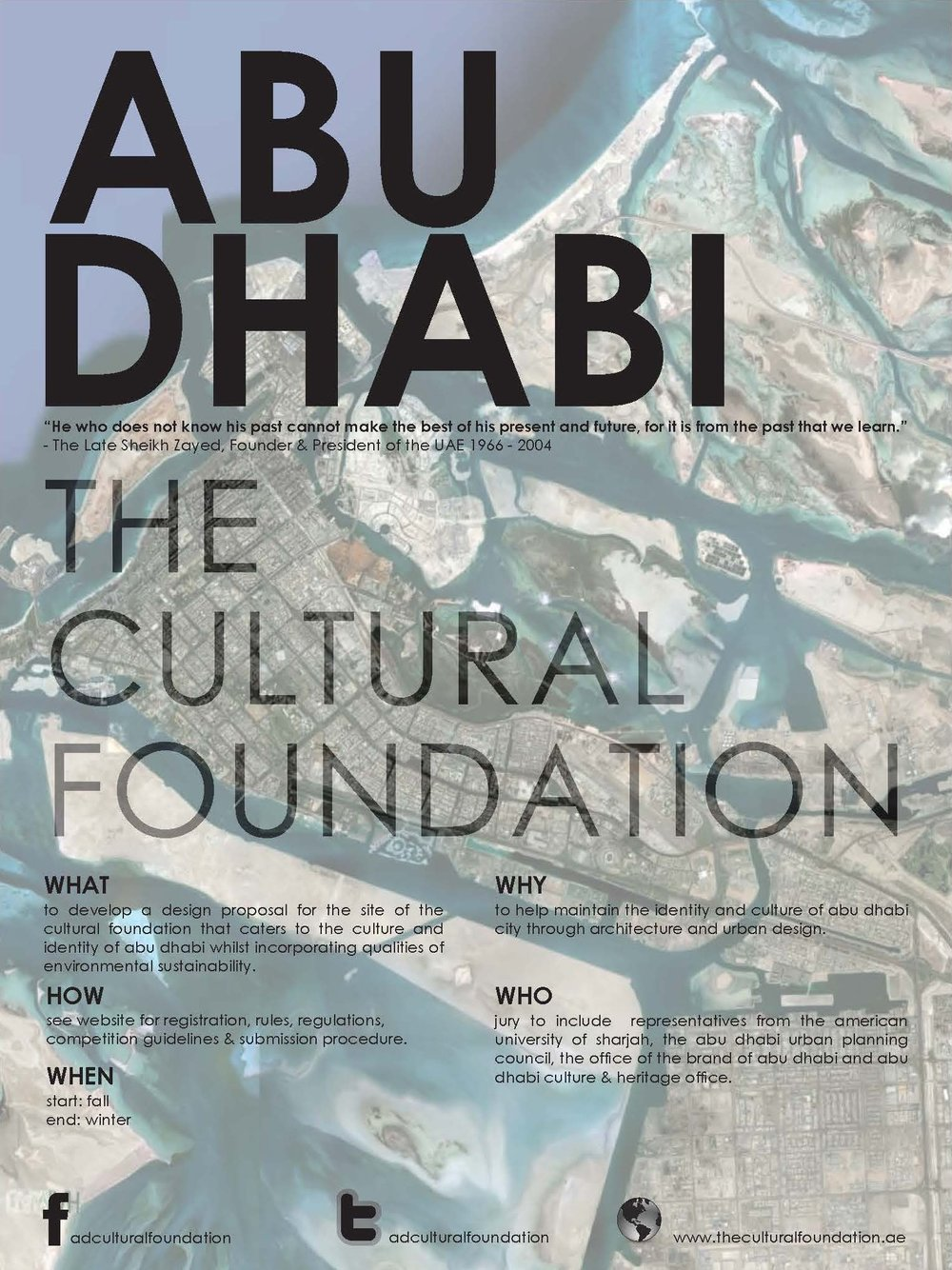 Abu Dhabi: Urban Regeneration Considering Cultural Identity. Poster Design Concept. Independent Research 2012