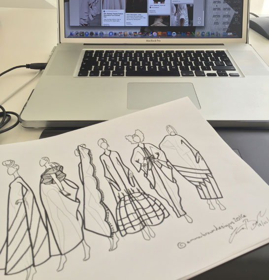 Initial sketches for Abayas