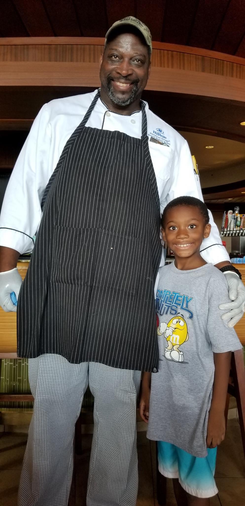Affron and his son at The Hilton.