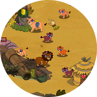 HABITAT RESCUE LION'S PRIDE game play screen