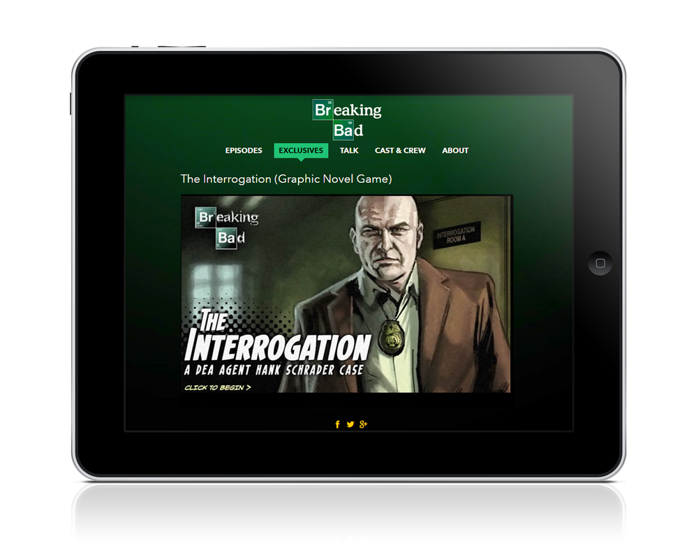 BREAKING BAD THE INTERROGATION Tablet Home Screen