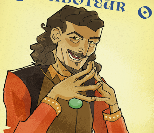 CROWN OF ARAGON Saboteur Illustration Card Detail