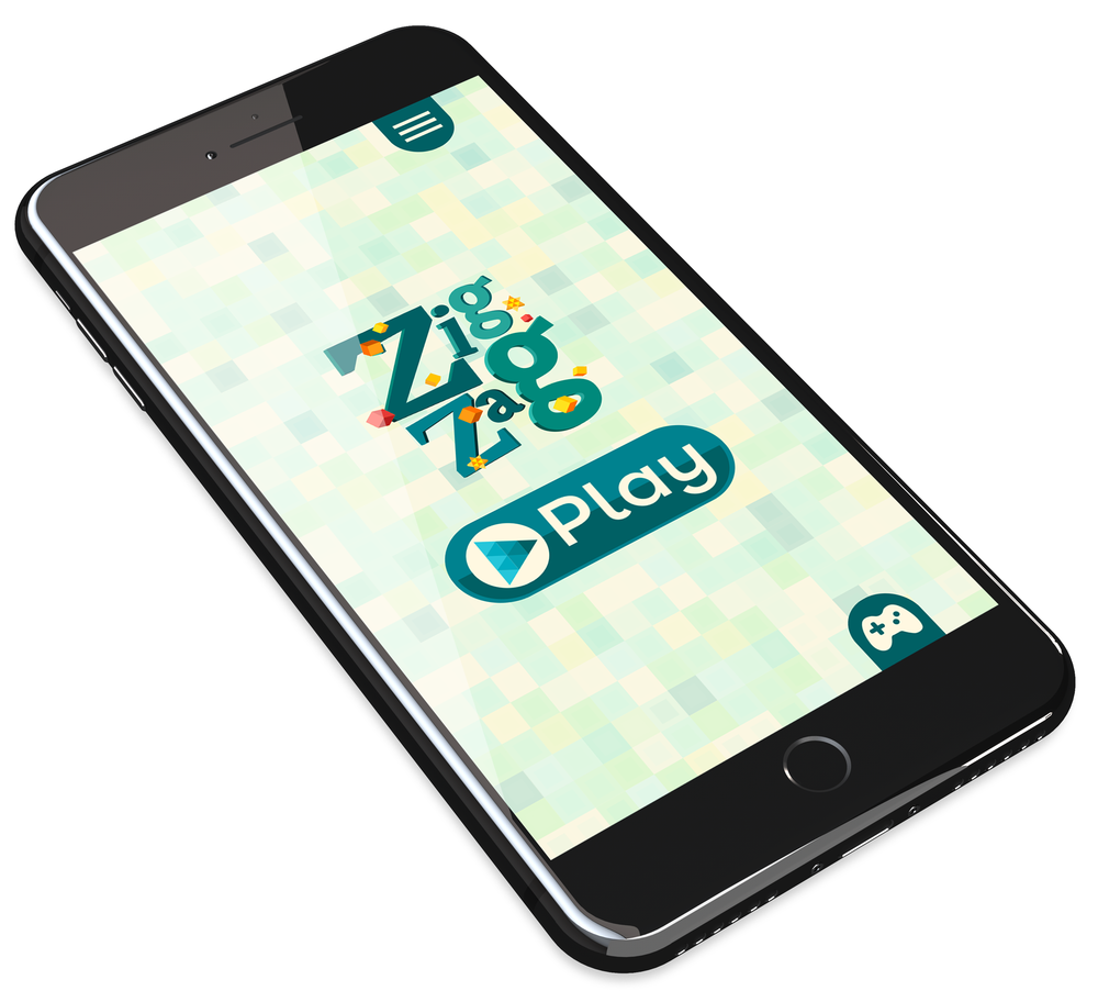 ZIG ZAG Mobile Device Home Screen