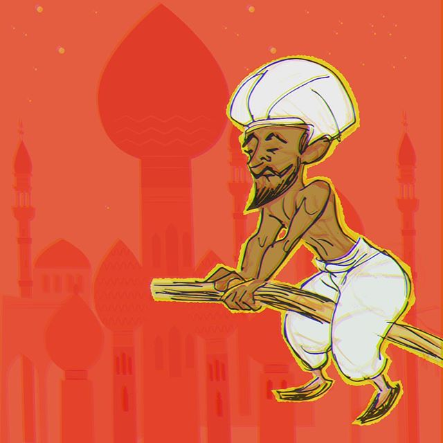 Updating a daily drawing-- #alibaba #vectorart #sketchbook #digitalartwork #arabiannights #characterdesign #touchtouchstudio #warmup #colorinspiration #wacomtablet #photoshopdrawing #drawingchallenge #createeveryday