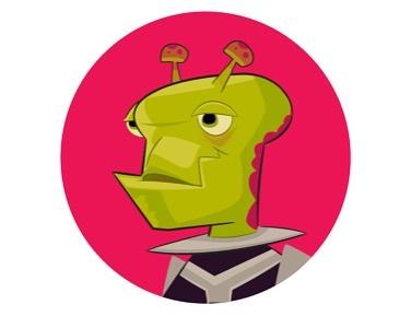 Alien profile #alien #characterdesigner #vectorillustration #adobeillustrator #drawingdaily #spaceage #retrofuture #gameart #gamedev #dribbble #touchtouchstudio #pentool #colorart #antenna #ufo