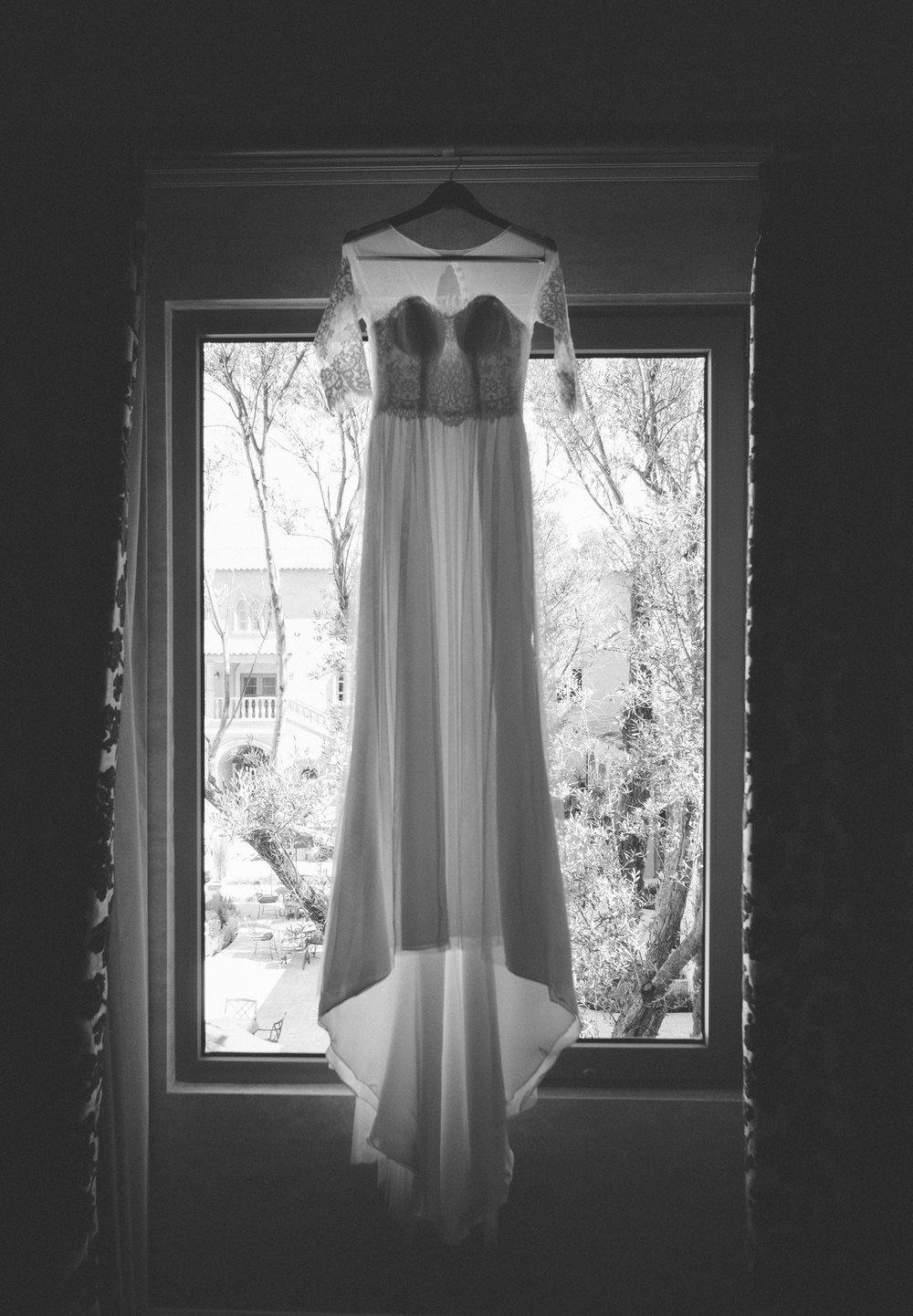 Wedding Dress at Allegretto Vineyard Resort