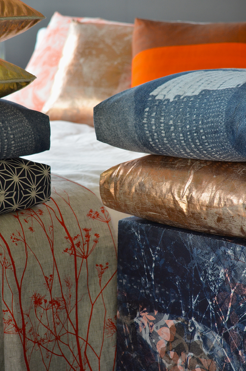 Threadbound Spacecraft textiles cushions bed linen