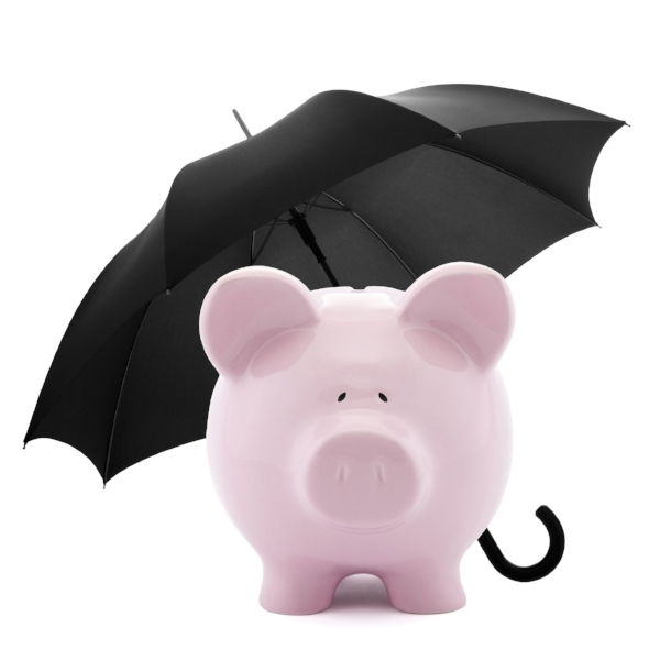 10465178 - financial insurance. piggy bank with umbrella