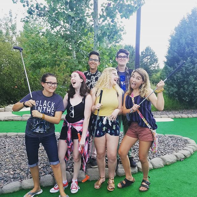 Are you ready for back to school? Your 18-19 HHS Theatre leadership team sure is! #minigolf #noonecheated #yeahright #teambuilding #hhstheatre