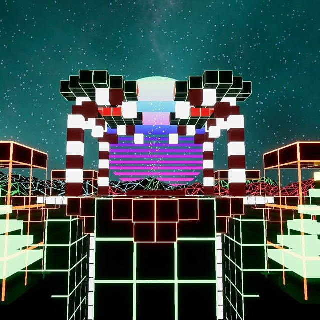 Northern.Polarity  Merry Christmas and Happy Holidays from NonLocality Software 🎄 ---------- #christmas #indie #game #retro #developer #videogame #80s #neon #grid #super #cubiform #north #pole #polarity #festive #holidays #art #3D #Cubes #not #minecraft