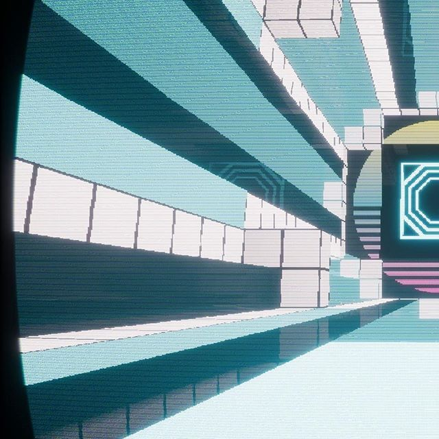 Persistence Super Cubiform is shaping up, can't wait to show off more! ------------ #neon #retro #grid #video #game #indie #developer #oldschool #dev #80s #style #stylized #npr #colors #digital #art #unreal #madewithunreal #blue #platformer #panorama