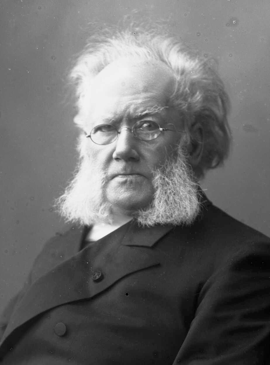 Photo: Erik Werenskiold, Henrik Ibsen, 1895. Olje på lerret, 119,5 x 93,5 cm. Blomqvist Kunsthandel.