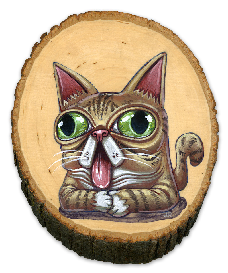 This is my painting for the Lil Bub art show that opens today at 5pm at Spoke Art in San Francisco, along with a new show by Casey Weldon.  It's going to be all the cats!