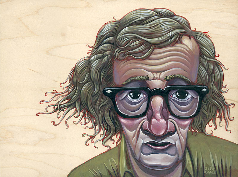 Here is my submission for the Woody Allen show happening at  Gallery 1988 . Delightful times abound.