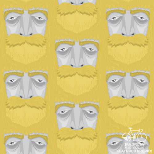 A daily pattern, yo.  for Paper Bicycle's daily pattern project. Want to see that gorgeous beard in all its giant might? Well, I posted one over yonder.
