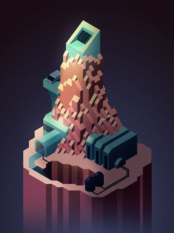 Another isometric illustration. A little on the sci -fi side.