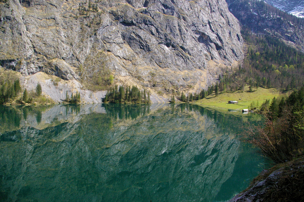 I don't normally post photos, but here is one I took on a trip to Lake Obersee in Germany this weekend.  I couldn't have asked for a better reflection.