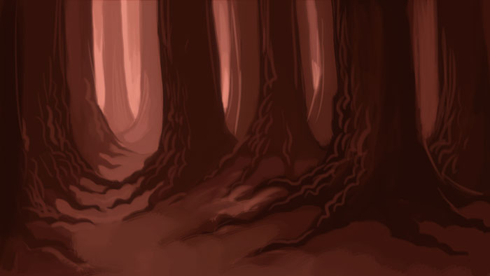 I made a little digital painting of a forest.