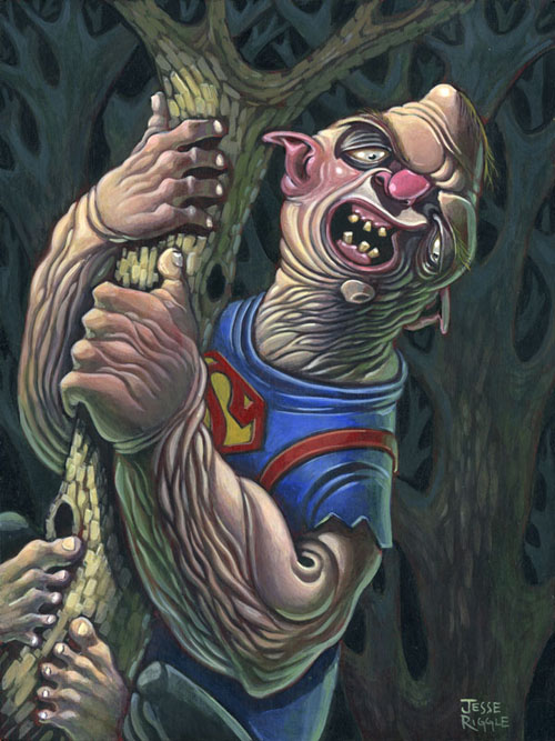 This year Gallery 1988 is holding their annual Crazy 4 Cult show in my old stomping grounds, NYC. The show should be amazing! This is the piece I made, Sloth from The Goonies in his natural environment. It's acrylic on a maple panel, 9x12.