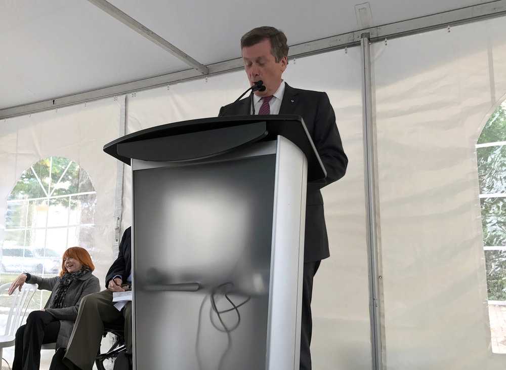Mayor of Toronto, John Tory talking about Access to Justice