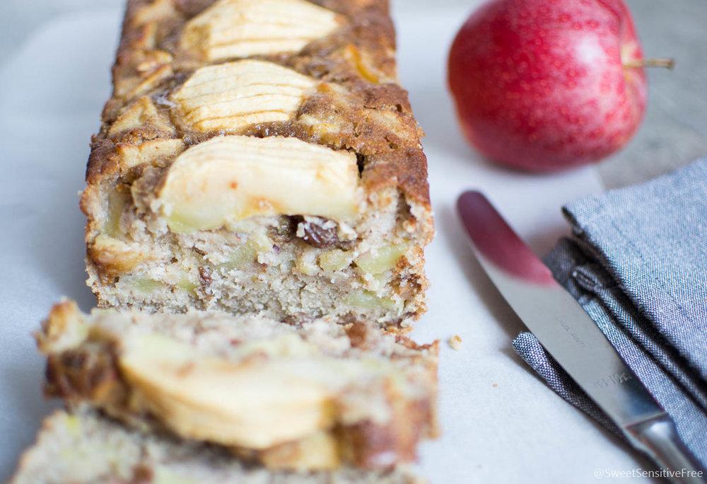 Easy Gluten free Vegan Moist Apple Cake