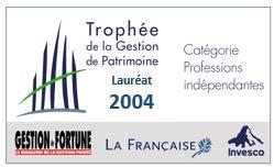 Trophée de la Gestion de patrimoine 2004.JPG