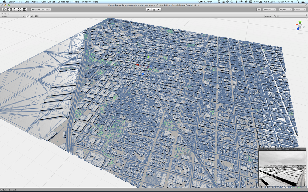 All meshes generated from Mapbox layers