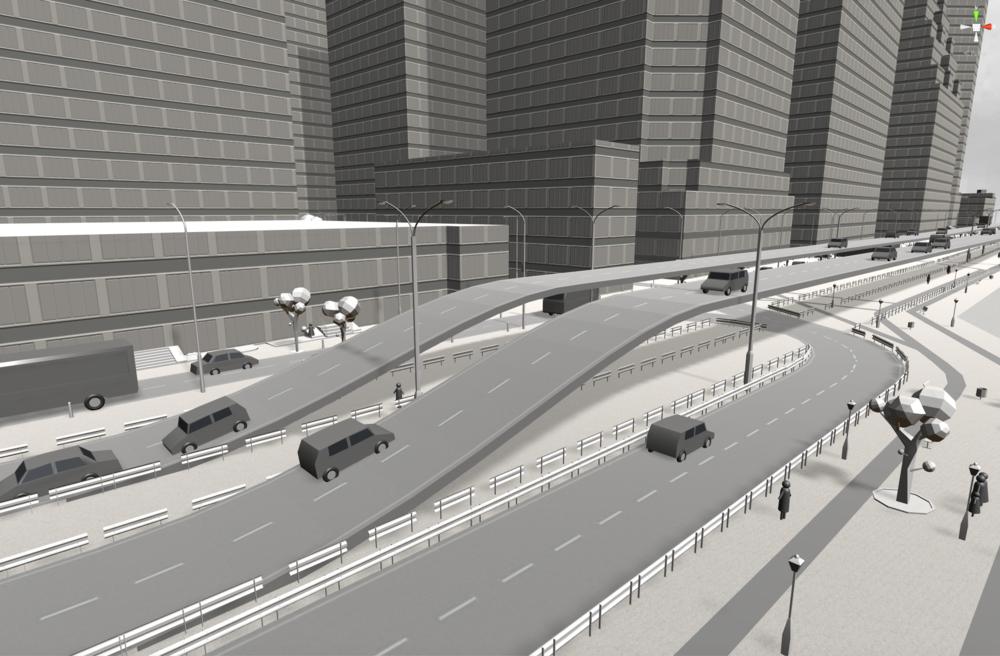 Fig. 4 Highway bridging