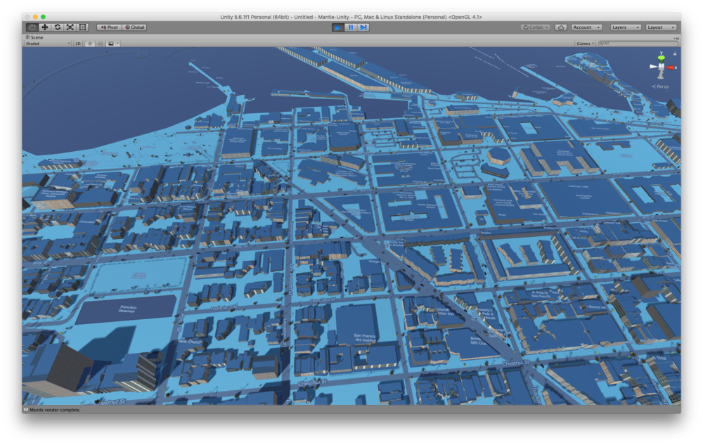 Mapbox Custom Moonlight Style in blue as an image overlay in Mantle