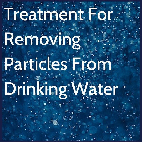 Removing particles from drinking water