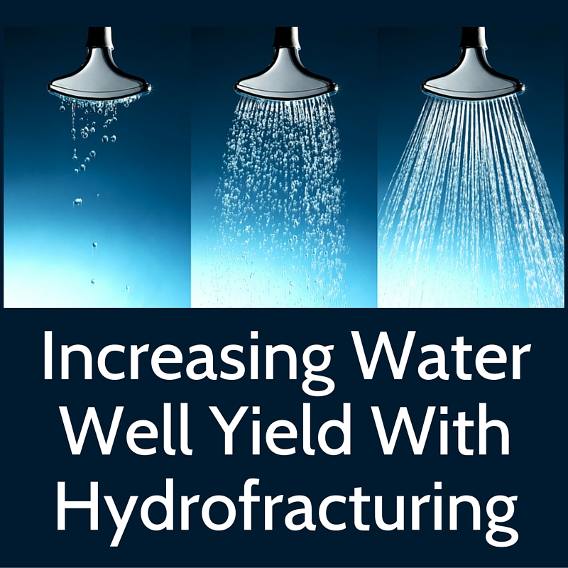 Water well pressure, yield and hydrofracturing