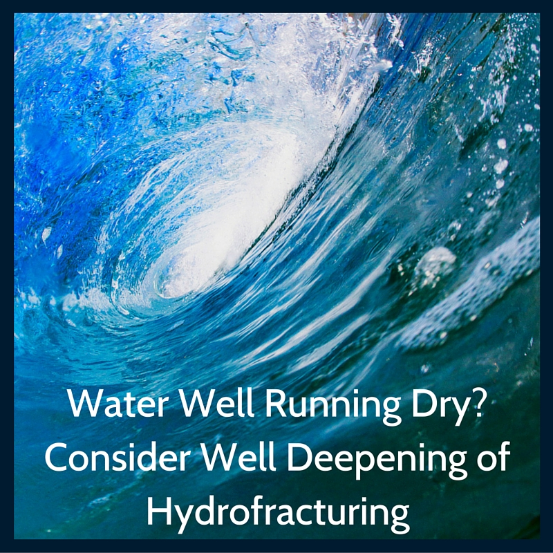 Well deepening and hydrofracturing for dry wells