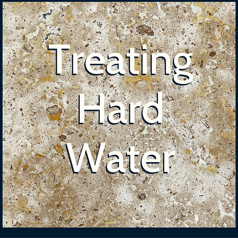 Hard water treatment for residential water wells