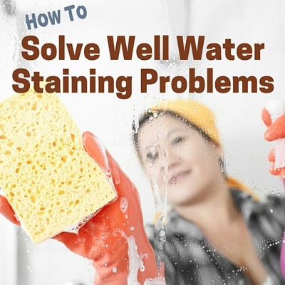 Iron staining from well water