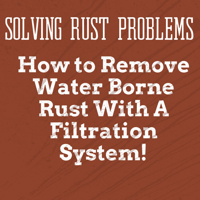 Removing water borne rust