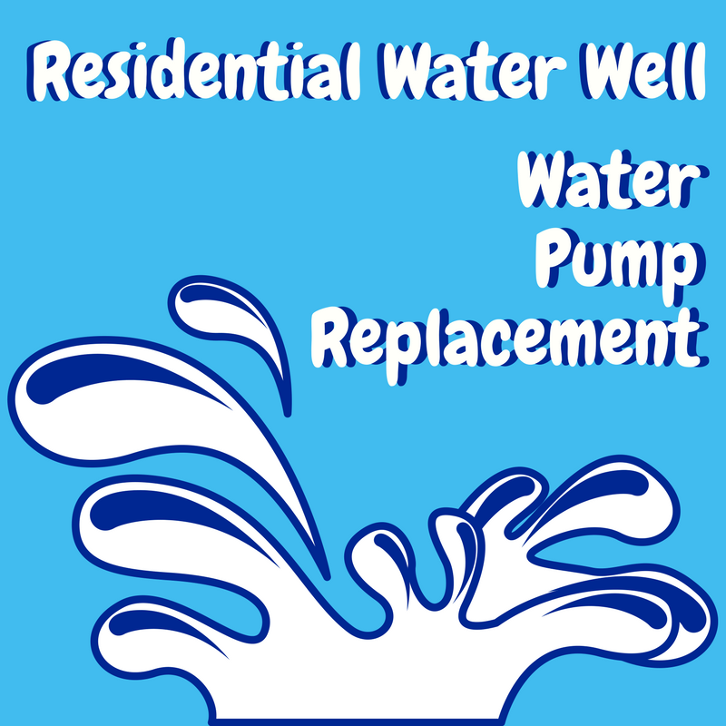 Replacing a residential well pump