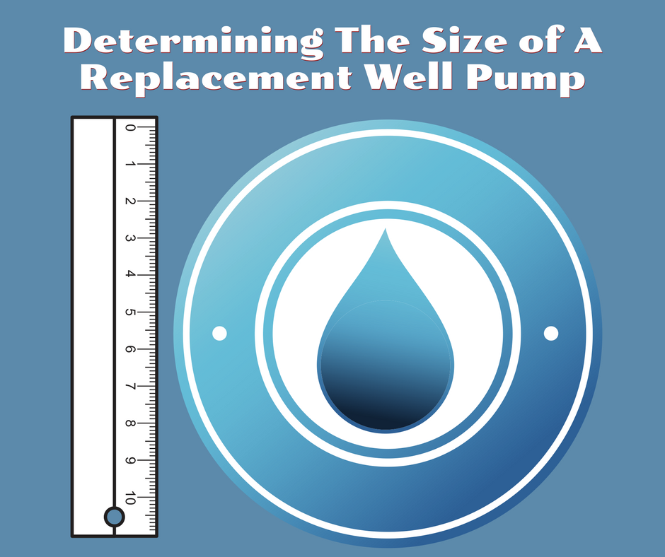 Determining the size of a replacement well pump.