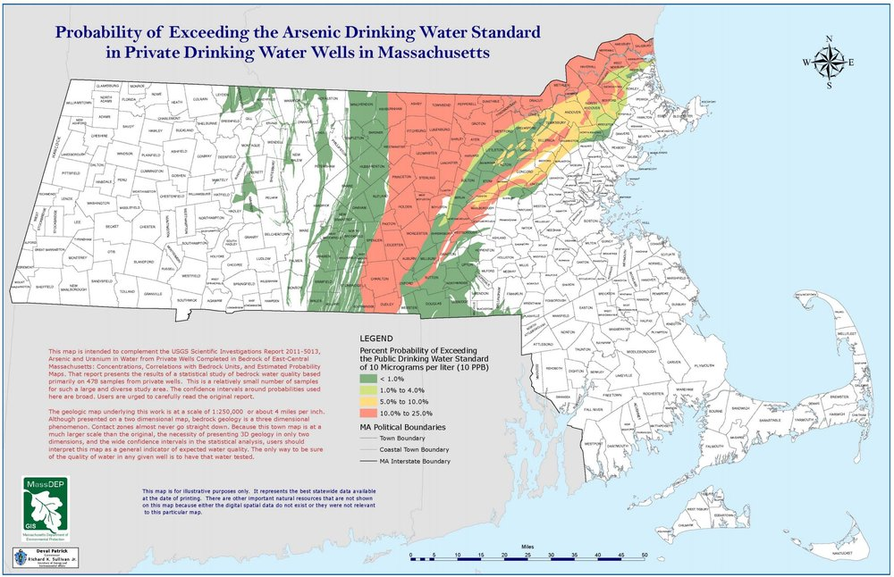 Massachusetts potential arsenic groundwater contamination