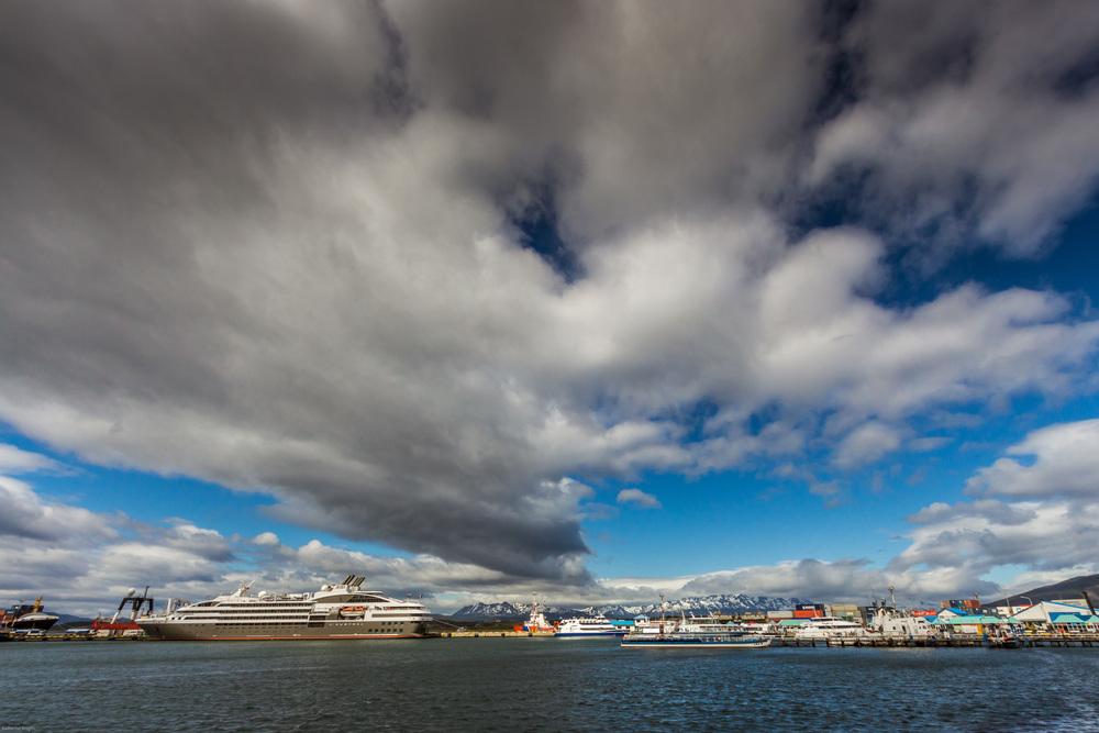 Cruise liners Ushuaia, Patagonia