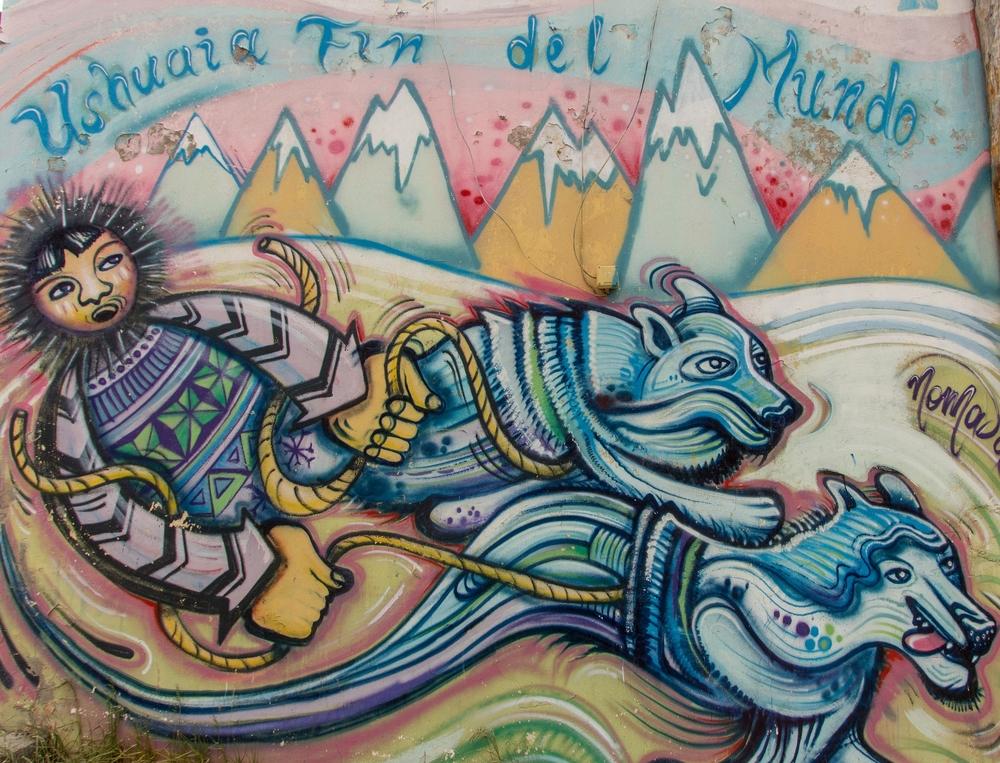 Street art in Ushuaia, Patagonia